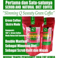 Coffee Scrub and Natural Diet Slimming Q Sweaty Green Coffee
