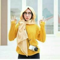 Baju Kaos sweater rajut Roundhand