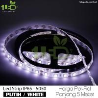 Lampu LED Strip Flexible Putih Roll 5 Meter 6W IP65 SMD 5050