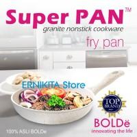 SUPER PAN BOLDe | FRY PAN 22 CM GRANITE COATING | FREE BUBBLE