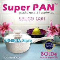SUPER PAN BOLDe | SAUCE PAN 18 CM + LID | GRANITE COATING |FREE BUBBLE
