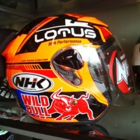 NHK Helmet Seri Lotus Half Face Orange Wild Bull Fluo