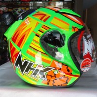 NHK Helmet R6 Half Face R 6 Green Orange Lotus Seri