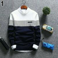 Baju Rajut Pria Korea Zico Sweater Navy
