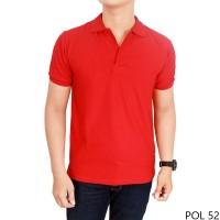 Kaos Kerah Pria Polos - Kaos Polo Polos warna merah -Polo Polos Merah
