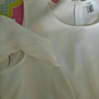dress putih sabrina import