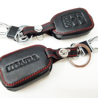 Leather Key Cover Kulit Remote Kunci Honda New Mobilio Brio BRV HRV