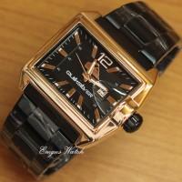 Jam Tangan Pria Quicksilver Square Black Gold Kw Super