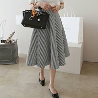 Stripe Space Cotton Skirt(#7-65)/Rok maxi/Rok midi/Rok panjang