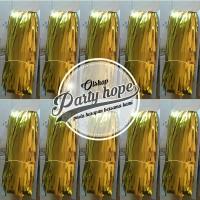 tirai foil gold / backdrop gold / foil fringe curtain/ background gold