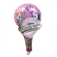 Balon pentung little pony / balon little pony / balon stick / foil