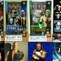 SHF The Rock + Stone Cold + Triple H WWE Smackdown Smack Down ORI
