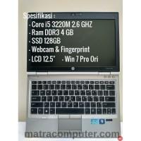 Laptop Gaming HP Elitebook 2570p - Core I5-3320M - SSD 128 - Ram 4 - Ram 4 GB