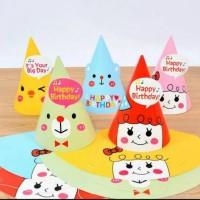 Korean Cute Party Hat/ Topi Pesta Ulang Tahun Lucu Bear, Chick, Girl