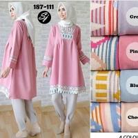 Baju Muslim Wanita/ Baju Wanita/ Tunik/ Blouse Putih/ M Berkualitas