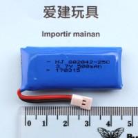 batere HUBSAN H107 H107C H107D H107L 25C baterai lipo 1s 3,7V 500mah