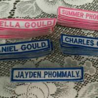 label nama pasantren bordir / tanda nama baju , celana dll