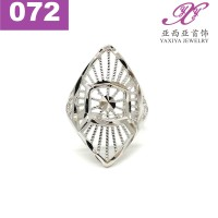 Cincin Emas putih Jenis Dubai Perhiasan imitasi 18k Yaxiya Jewelry 072