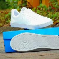 Sepatu Kets Adidas Neo Advantage GRADE ORI/Full White Putih/Cowok Cewe