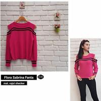 sabrina flora pink/sabrina list fanta/sweater sabrina terbaru