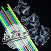 stick balon warna / gagang balon / pegangan balon / Tangkai balon - Hitam