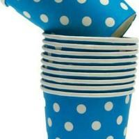 Souvenir Ultah / Gelas Polkadot biru