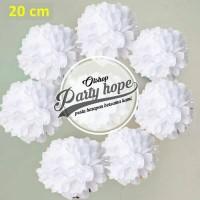 Pompom Kertas Putih / Pompom Kertas 20 Cm / Tissue Paper / Pompom