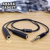 Audio Splitter Jack 3.5mm male to dual female 2in1 Kabel Audio & Audio