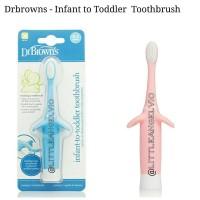 Dr Brown Browns Infant Toddler Toothbrush Tooth Brush Sikat Gigi Bayi - Pink