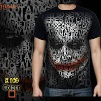 Kaos Tshirt Baju Superhero Joker - Hitam, L