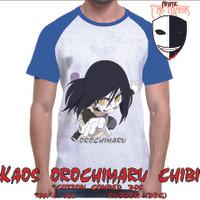kaos anime naruto orochimaru chibi raglan biru Limited