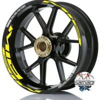 Stiker Velg Motor Sticker Mio Strip Yamaha Racing Factory Kuning