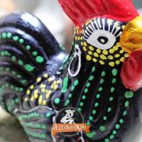 Celengan Gerabah Ayam Hitam dari Tanah Liat Bakar