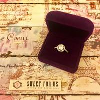 Elegant Purple Full Velvet Ring Box | Kotak Cincin Bludru Ungu