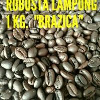 """Kopi Biji Robusta Lampung Merek Brazica Gold Quality"""" 1 Kg"""