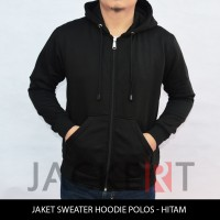 Zipper jaket/Sweater Hoodie hitam