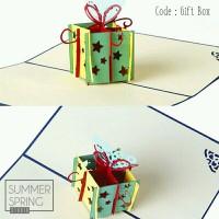 3D Pop Up Birthday Card - Gift Box Kartu Ucapan