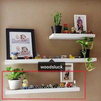 rak dinding floating shelf kayu solid 60x15x3 cm 1pcs