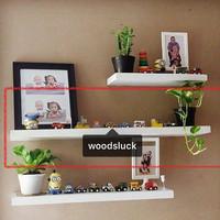 rak dinding floating shelf kayu solid 80x15x3 cm 1pcs