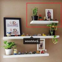 rak dinding floating shelf kayu solid 40x15x3 cm 1pcs