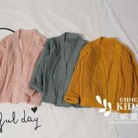F150 16520 Sweater Rajut Pink / Grey - Sweater anak perempuan