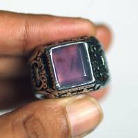 Cincin gemstone Lavender Chalcedony