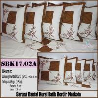 Sarung Bantal Kursi Batik Bordir Mahkota Sarung bantal Sofa