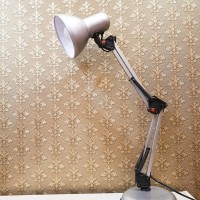 Lampu Baca/ Meja/ Arsitek PIXAR SILVER SHIGEN SG 406 FREE BOHLAM LED