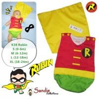 Jumper Karakter Kostum Bayi Super Hero Robin Batman Brother