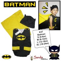Jumper Karakter Kostum Bayi Super Hero Batman Lucu Unik Nyaman