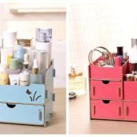 Rak kosmetik bahan kayu Desktop storage kode 040