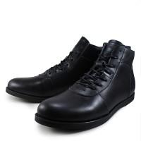 Sepatu Boots Pria Sauqi Brodo Racing Black Kulit Casual Kerja Kantor