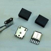 Konektor Micro USB Female Socket 5 Pin + Tutup Cover USB