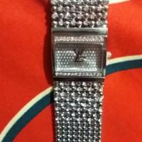 new jam tangan wanita LV RANTAI SILVER KW SUPER 2 JARUM